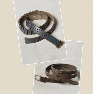 2 Anthropologie Belts